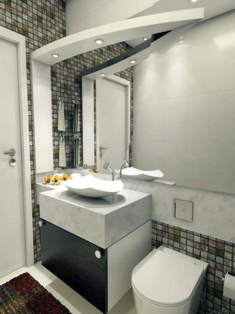 As cubas quadradas são perfeitas para banheiros pequenas
