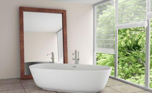 Para uma área de relaxamento, junto a banheira