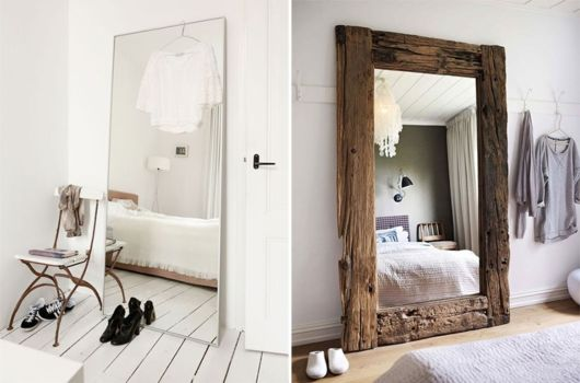 Com moldura fina ou grossa: escolha o mais adaptável à decoração do seu quarto