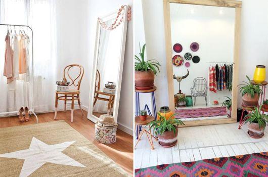 Seu apartamento ficará mais lindo e conceitual com o espelho de chão