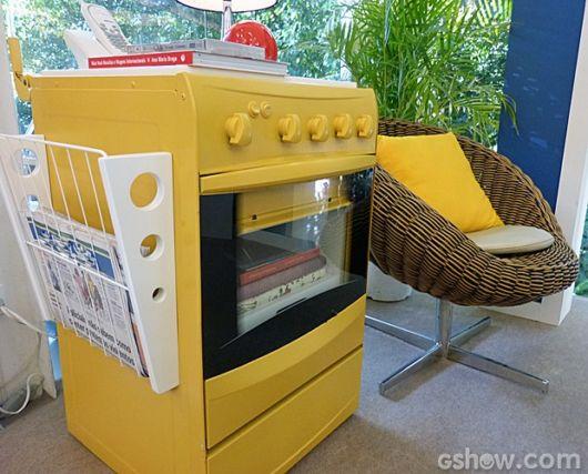 Essa versão é bem interessante para usar em sua cozinha hoje em dia, o amarelo destaca o fogão retrô