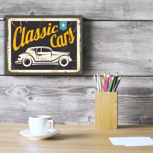 placa vintage carro