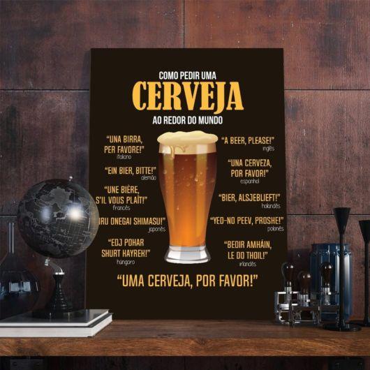 placa de como pedir cerveja