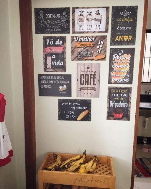 parede da cozinha decorada