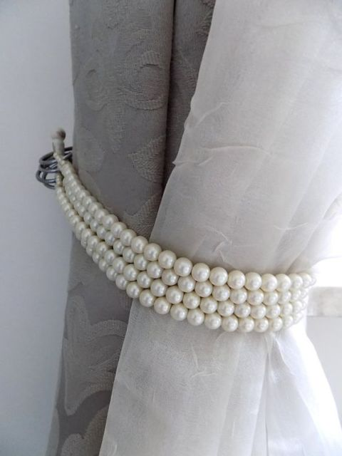 cordão de pérolas para cortina