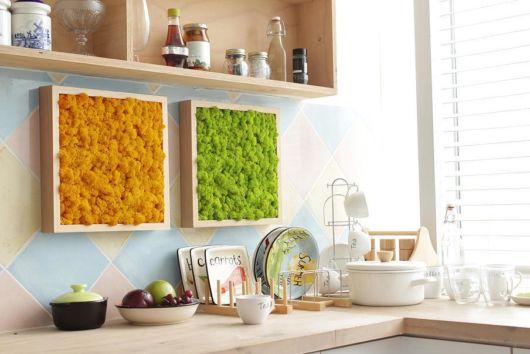 Até a sua cozinha pode ser decorada com muitas versões do quadro vivo