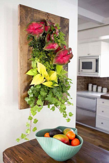 Flores ajudam a deixar o quadro mais colorido e perfeito