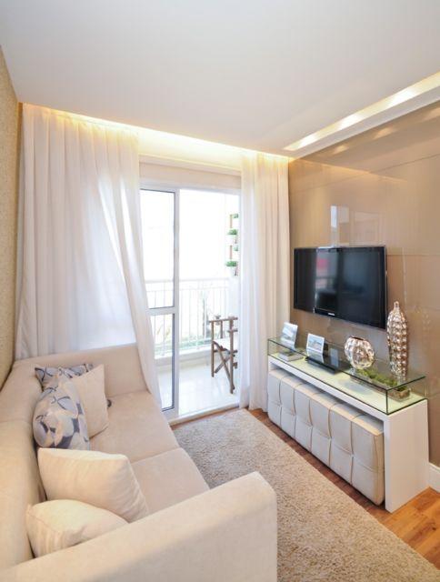 Esse padrão é bem convencional e equilibrado para qualquer apartamento pequeno