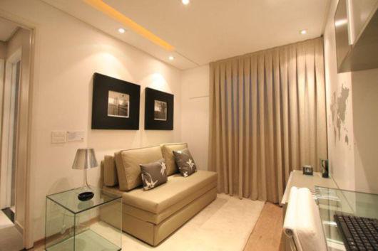Seu apartamento pode ser projetado de modo coerente com uma sala bem organizada, mesmo que o local seja pequeno