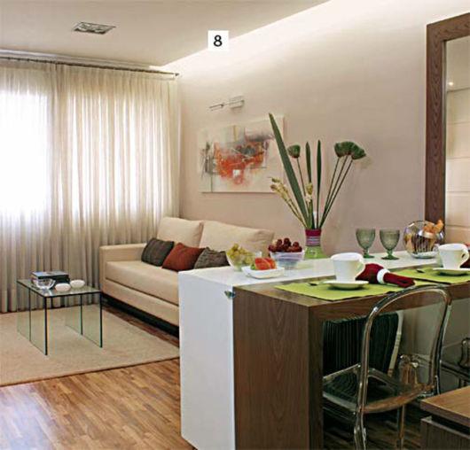 A perfeita integração entre sala e cozinha, uma tendência perfeita para apartamentos pequenos