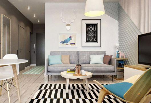 A decoração faz toda a diferença em sua sala de apartamento pequeno