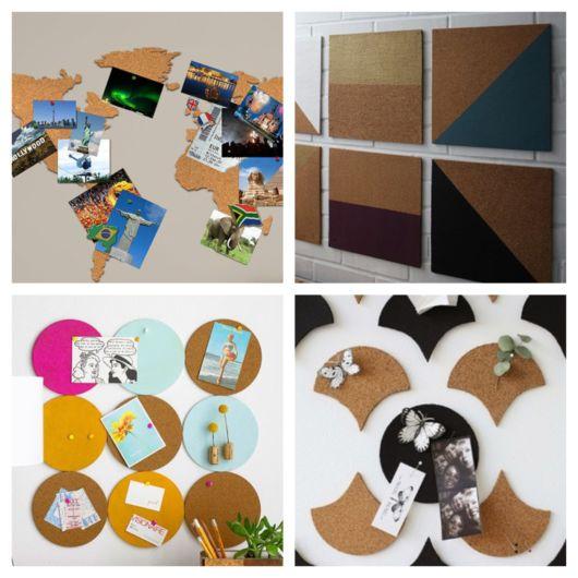 Vários tipos e formas de decorar com quadro de cortiça