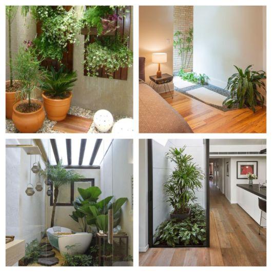 Vasos, suportes e outras estruturas decorativas ajudam a deixar seu jardim de inverno pequeno lindíssimo