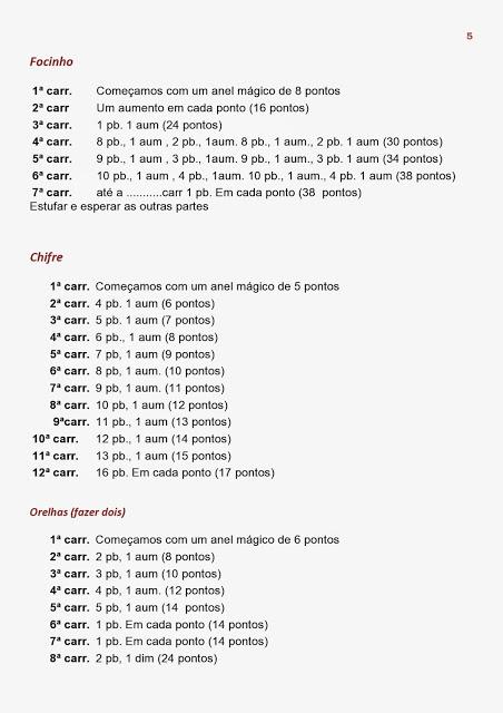 Kel Cuesta - Örgü ve tığ işi: gelir | Padrões de animais de crochê | 640x452