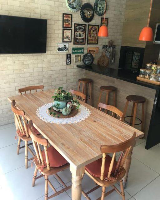 Área Gourmet Rústica Simples