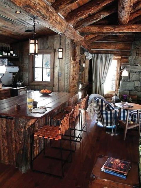 Área Gourmet Rústica Pequena