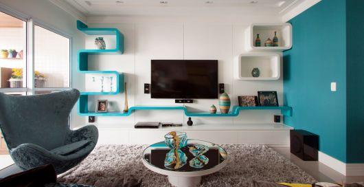 Azul turquesa nos detalhes: que tal seguir essa ideia em meio ao conceito minimalista?