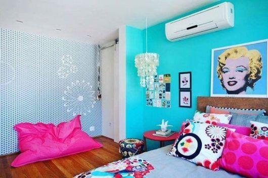 Bela tendência para um quarto feminino moderno