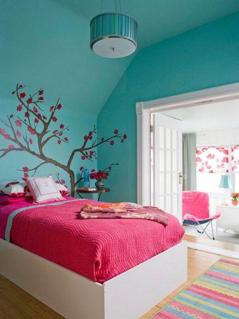 As paredes em azul turquesa são sinônimo de bom gosto em qualquer conceito decorativo