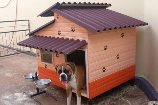 Como fazer uma casinha de cachorro colorida e luxuosa
