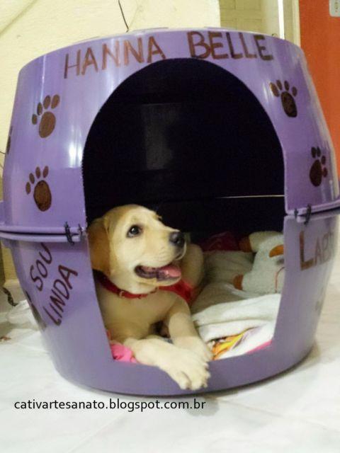 Como fazer uma casinha de cachorro com bacia passo a passo