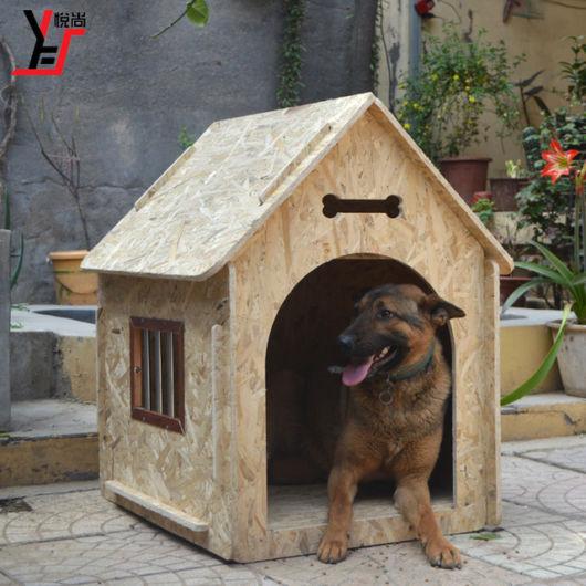 Casinha de cachorro de madeira trabalhada para deixar na varanda de sua casa