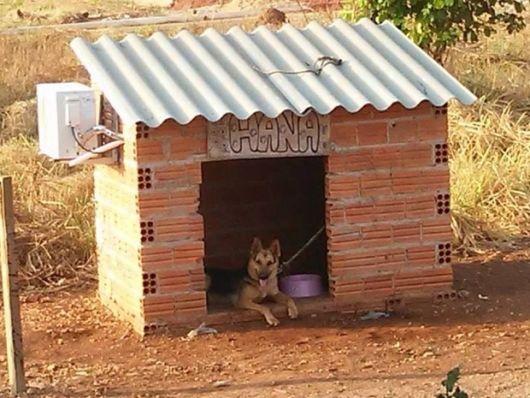 Como fazer uma casinha de cachorro de tijolo passo a passo