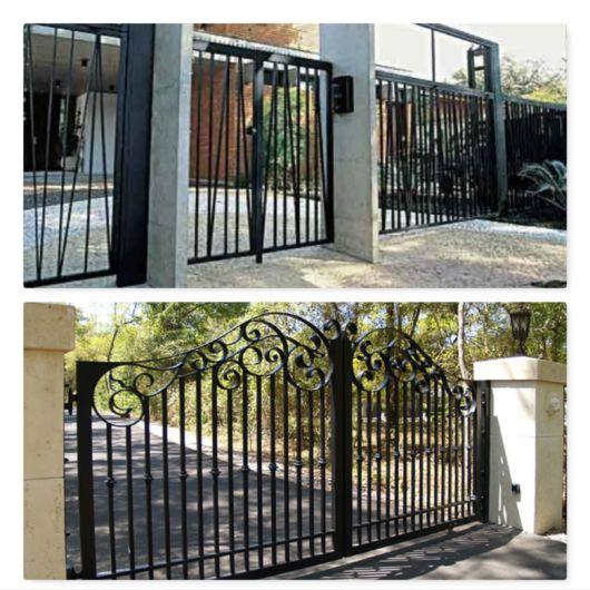 Portão preto.