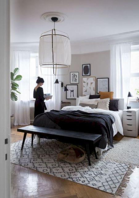Cortina branca para quarto.