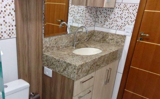 Modelo tradicional para ajudar na organização do seu banheiro