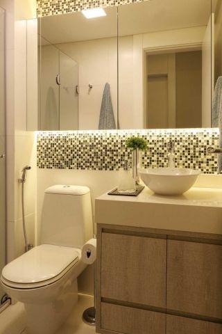 O minimalismo é perfeito para projetos de banheiros modernos