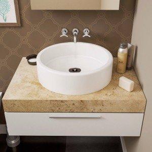 Pequena pia para um lavabo compacto