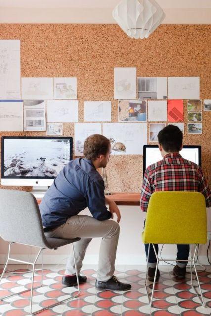 Uma maneira barata e original de decorar seu escritório e deixá-lo mais funcional