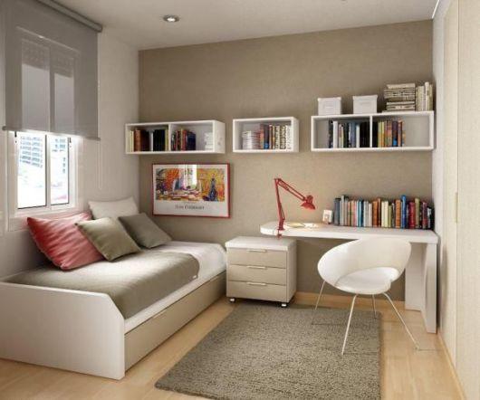Veja como é fácil organizar uma sala/home office com nichos para livros
