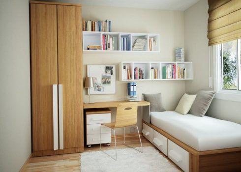 Não precisa de estantes para deixar seu quarto organizado
