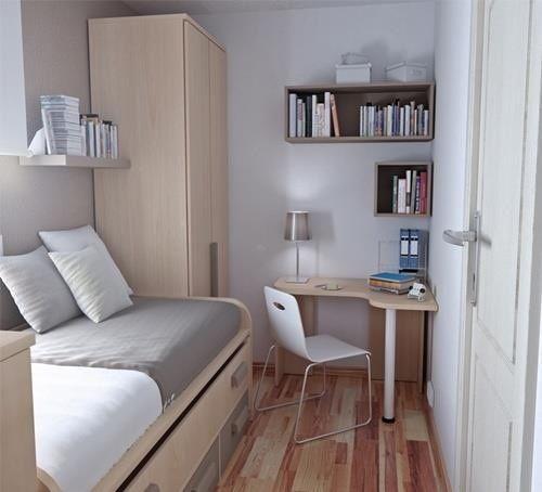 O espaço em seu quarto fica mais otimizado e há verdadeiros ganhos para a decoração com esses nichos para livros