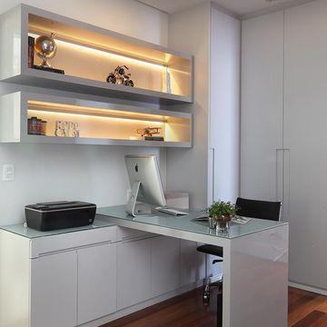 nicho para escritório com iluminação