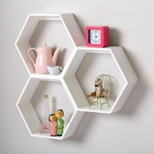 nicho para escritório hexagonal