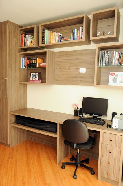 nicho para escritório madeira