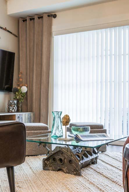 persiana com cortina de tecido