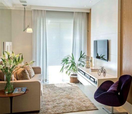 persiana horizontal com cortina de tecido