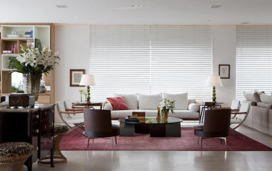 cortina branca na decoração