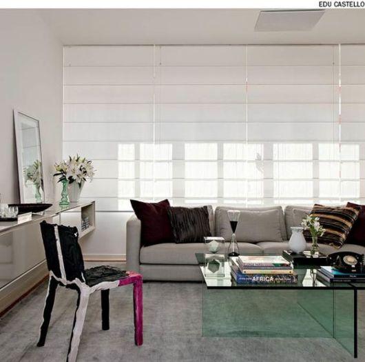 sala moderna com cortina