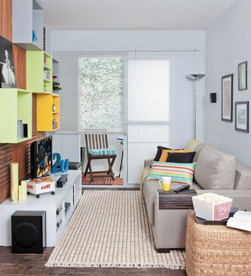 sala pequena colorida