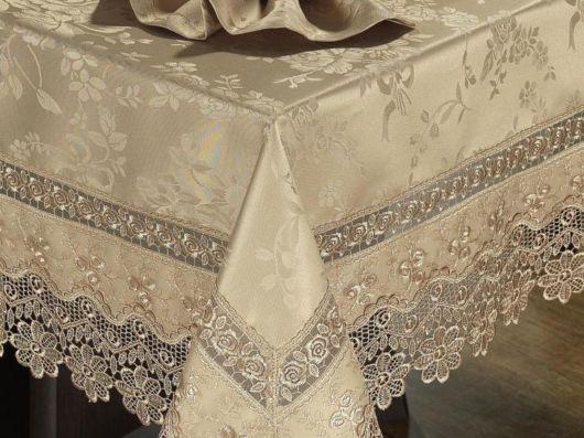 toalha de mesa bordada luxo