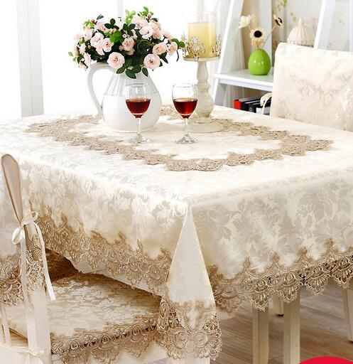 toalha de mesa bordada chique