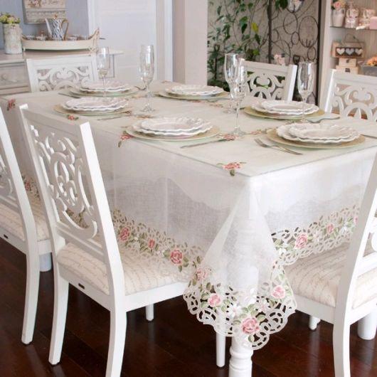 dicas de toalha de mesa bordada