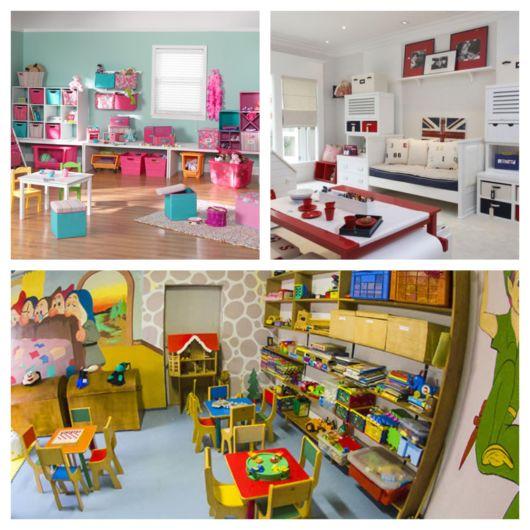 Brinquedos, móveis temáticos e demais materiais deixam o ambiente lindo e funcional