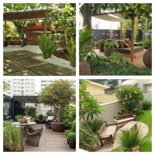 Os mobiliários e demais adornos decorativos são boas opções para completar um jardim moderno