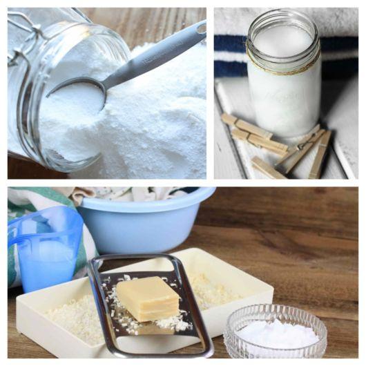 Bicarbonato, sabão e demais ingredientes podem ser utilizados na receita do detergente